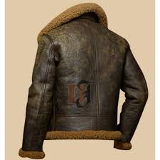 military men s distressed brown er jacket faux shearling leather jacket