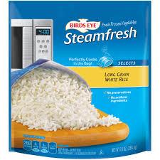 bag of white rice. Unique Bag Birds Eye Steamfresh Selects Long Grain White Rice Inside Bag Of G