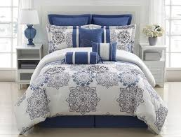 beautiful blue and grey comforter sets
