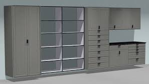 garage storage cabinets. built on the same wall-hung \u201cbox frame\u201d as our regular storage cabinets, garage shelves are materials, construction and quality cabinets