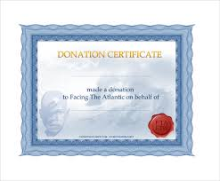 Sample Certificate Templates Sample Donation Certificate Template 6 Free Documents In Pdf Word