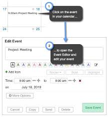 calendar that i can edit how can i edit an event in my calendar keep share support