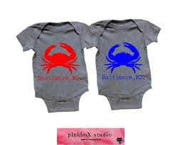 Md Crab Size Chart Red Crab Blue Crab Baltimore Md Baby Bodysuit Toddler Or Youth Tee Made In Baltimore Crab Shirt Home State Shirt Maryland