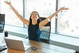 woman office furniture. Young Business Woman Throwing Paperwork Into The Air. People Office Furniture M