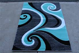 home interior selected gray and turquoise rug silver grey black handmade area 4 x