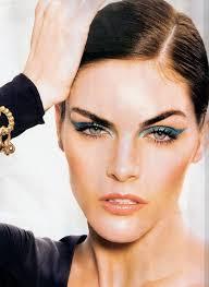 makeup hilary rhoda for elle spain april 2016