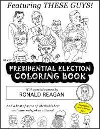 2018 presidential election printable coloring book
