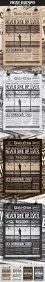 1 Page Newspaper Template Microsoft Word (8.5X11 Inch) | Pinterest ...