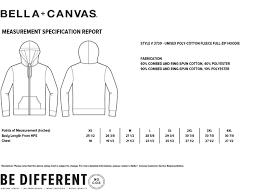 Bella Canvas Hoodie Size Chart Bella Canvas Unisex Hooded Pullover Sweatshirt 3739 Size