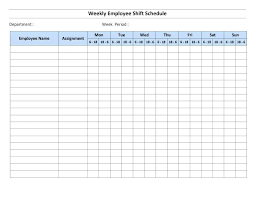 Free Weekly Schedule Template Excel Free Shift Schedule Template