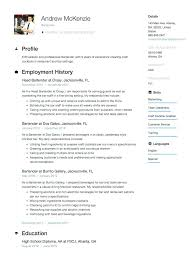 Resume Template Bartender Serving Resume Example Serving Resume ...