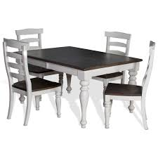 extension dining room sets. 5-piece extension dining table set with ladderback chairs room sets