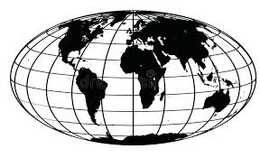 Download Stroke And Black World Map Stock Illustration Of White