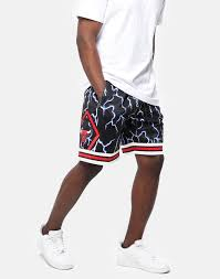 Mitchell And Ness Swingman Size Chart Mitchell Ness Chicago Bulls 97 98 Lightning Swingman Short Black