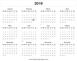 2019 Calendar Printable Template 20 Printable 2019 Calendar Templates