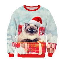 grumpy cat christmas hat. Unique Grumpy Alisister Harajuku Cat Sweatshirt 3D Print Christmas Hoodie Cute  KittenSlothGrumpy With Hat Outerwear Funny Topsin Hoodies U0026 Sweatshirts  For Grumpy