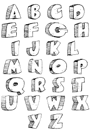 If you use it, let me know what you did! Alphabet 3d Alphabet Coloring Pages For Kids To Print Color