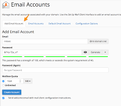 Creat E Mail Creating Removing An Email Account Media Temple