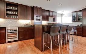 kitchen with wine lover corner and glass storage