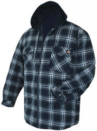 Cheap Flannel Hooded Jacket Men S, find Flannel Hooded Jacket Men ... & Get Quotations · Dickies Big Men's Hooded Flannel Zip Jacket Quilted Lining  4XL Navy Plaids #634B Adamdwight.com