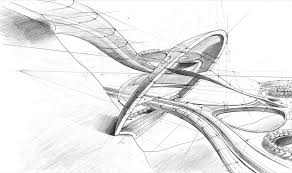 Modren Architecture Design Sketches Architectural Sketch 6 By Throughout Inspiration