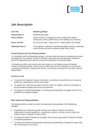 2017 Job Description Template Fillable Printable Pdf Forms