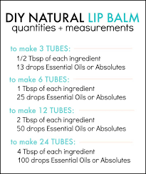diy lip balm recipe for making all natural chap stick at home tutorial uses oil