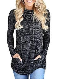 ETCYY Womens Pullover Sweatshirt <b>Casual</b> Long Sleeve <b>Button</b> ...