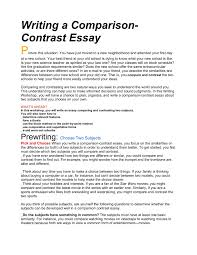 Example Of A Comparison And Contrast Essay Writing A Comparison Contrast Essay Santa Monica Malibu