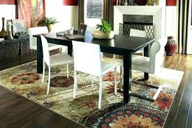 rugs under dining table area rug how to measure for room size no size of area