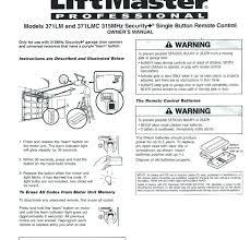 liftmaster garage door opener manual. Contemporary Liftmaster Reprogramming Liftmaster Garage Door Opener Manual  Home Chamberlain Professional Formula 1 Programming  Intended