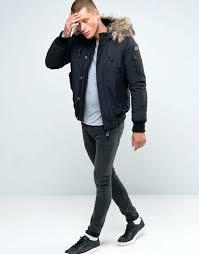 black coat with fur hood mens 4 hooded er faux fur trim black men coat chaps black coat with fur hood