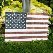 outdoor wooden american flag wall d cor on patriotic outdoor wall art with patriotic decorations wayfair