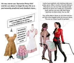 Sissy bondage maid whip feminization apron