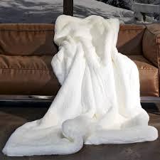white faux fur throw. Interesting Faux PUMA WHITE Faux Fur Throw In White A