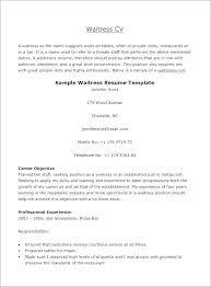 Sample Server Resumes Restaurant Server Resume Example Waiters And