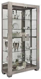 shelf curio cabinet ashwood taupe