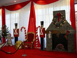 join santa on his throne next to a 10 faux stone fireplace and guarded by