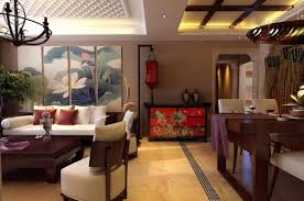 Oriental Style Living Room Furniture Chinese Living Dining Room Decoration 3d Design Chinese Living