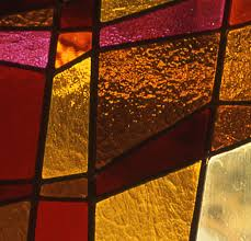 leaded door panel detail leaded light with coloured glass