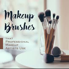 what are the types of makeup brushes that professional makeup artists use