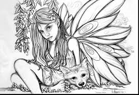 Printable Coloring Pages Of Fairies Beautiful Free For Adults