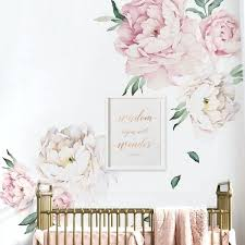 flower wall decals peony flowers decal by simple shapes metal art hobby lobby 3d vase australia flower wall decals