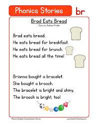 Phonics Words Stories BR Reading Comprehension Worksheet.