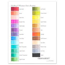 Full colour wall chart / poster depicting twelve different colours. Triblend Markers With A Printable Chart Make It From Your Heart