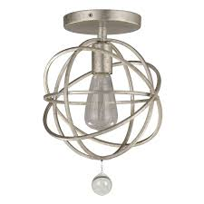 crystorama solaris 1 light silver ceiling mount