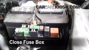 replace a fuse 2004 2009 nissan quest 2006 nissan quest s 3 5l v6 6 replace cover secure the cover and test component