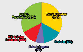 Healthy Eating Percentages Pie Chart Describe A Pie Chart Hugh Fox Iii