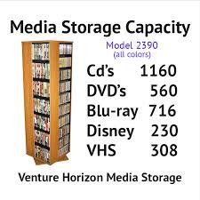 Cd Capacity Chart Revolving Media Towers