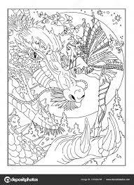 Kleurplaat De Fee Stockfoto Larisakuzovkova 157029708